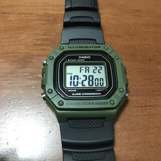 カシオ(CASIO)のCASIO腕時計 チプカシ カーキ(腕時計(デジタル))
