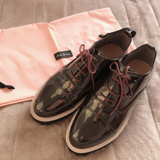 ✿ Heart embroidery oxford shoes