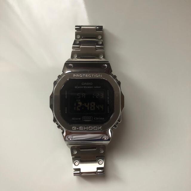 G-SHOCK(ジーショック)の値下げ G -SHOCK DW 5600GM フルメタルカスタム シルバー メンズの時計(金属ベルト)の商品写真
