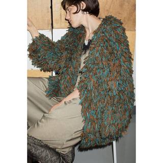 BEAUTY&YOUTH UNITED ARROWS - leinwande  Hand Fringe Knit Coat