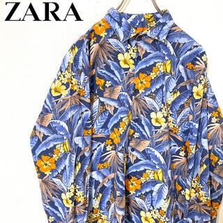 ザラ(ZARA)のZARA MAN ザラ ボタニカル柄 花柄 長袖シャツ シャツ オシャレ XL(シャツ)