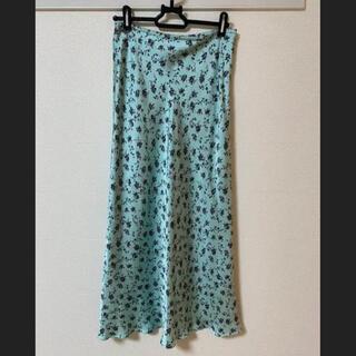 UNITED ARROWS - ユナイテッドアローズ フラワー柄 ロングスカート 美品