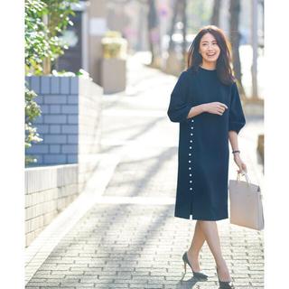 ツルバイマリコオイカワ(TSURU by Mariko Oikawa)のちこ様専用 VERY掲載 FLICA フリッカ  サイドパールドレス(ひざ丈ワンピース)