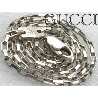 グッチ(Gucci)の美品 GUCCI スクエアチェーン ネックレス シルバー925(ネックレス)