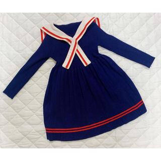 紺色ワンピース 100cm (ワンピース)