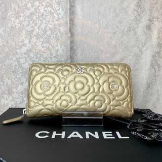 シャネル(CHANEL)の正規品✨シャネル カメリア ラウンドジップ 長財布(財布)