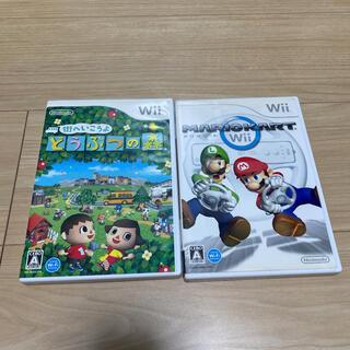 ウィー(Wii)のどうぶつの森 マリオカート マリカー wii(家庭用ゲームソフト)