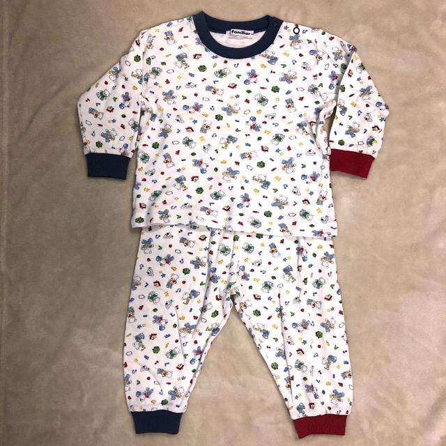 familiar(ファミリア)のファミリア ファミちゃん柄冬用パジャマ 80 キッズ/ベビー/マタニティのベビー服(~85cm)(パジャマ)の商品写真