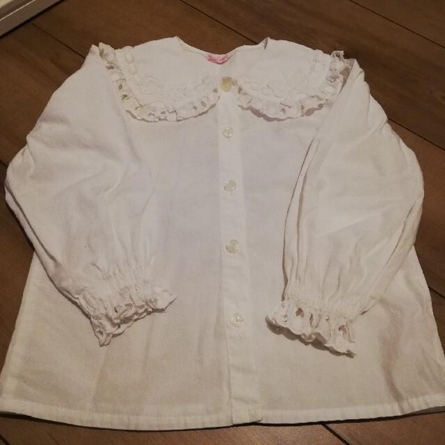 Shirley Temple(シャーリーテンプル)のシャーリーテンプル ブラウス100 キッズ/ベビー/マタニティのキッズ服女の子用(90cm~)(ブラウス)の商品写真