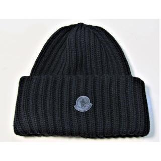 MONCLER - モンクレール ニット帽 ブラック 美品