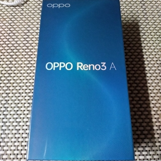 オッポ(OPPO)のOPPO Reno3A/黒/Black/ブラック/新品未使用品(スマートフォン本体)