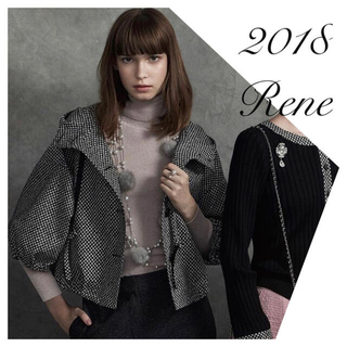 René - Rene♡ 2018年 ブローシャ掲載 イタリー製生地フーディブルゾン