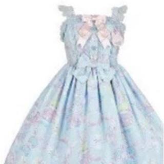 アンジェリックプリティー(Angelic Pretty)のAP Moco moco Bunnys ジャンバースカート(ひざ丈スカート)