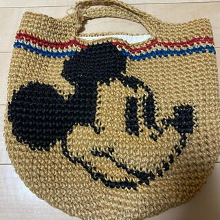 ディズニー(Disney)の訳あり ミッキー 麻バック(ハンドバッグ)