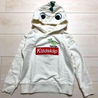 クレードスコープ(kladskap)のkladskap クレードスコープ ザウルスなりきりパーカー 110cm(Tシャツ/カットソー)