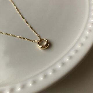 ビームス(BEAMS)のN08ゴールド Oリングネックレス silver925 (ネックレス)