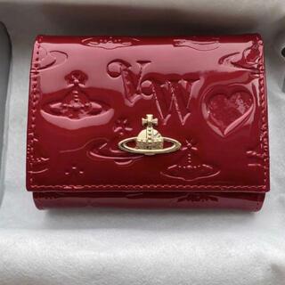 Vivienne Westwood - ヴィヴィアンウエストウッド Vivienneエナメル 三つ折り財布 ミニ財布 ☆