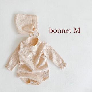 コドモビームス(こども ビームス)の透かし編みボンネット ベビーボンネット M(帽子)