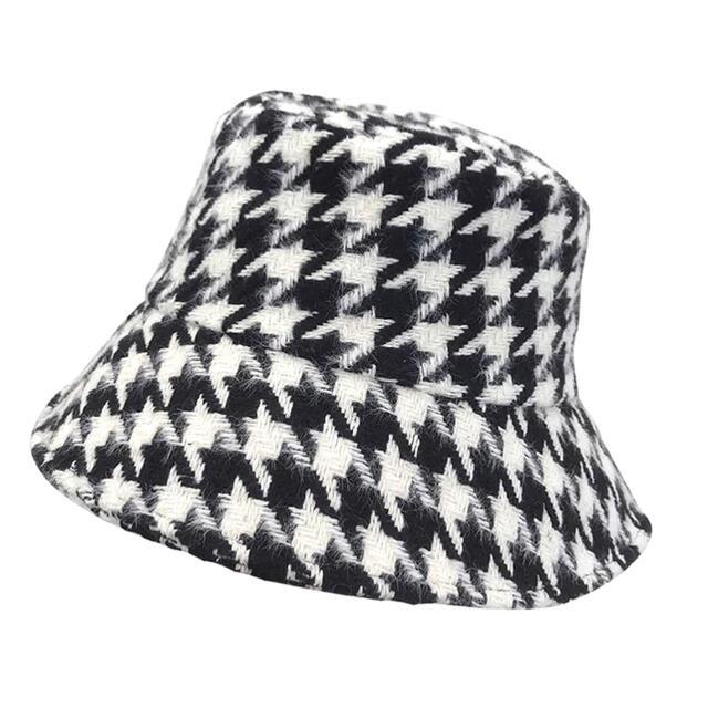 eimy istoire(エイミーイストワール)の千鳥柄バケットハット レディースの帽子(ハット)の商品写真