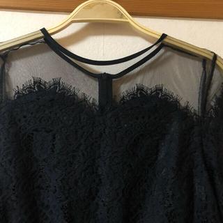 Adam et Rope' - 【新品未使用品】アダムエロペ  ブラック チュールレースドレス