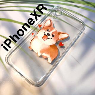 アップル(Apple)の残り1つ!iPhoneXRケース★コーギー クリアソフトケース  (iPhoneケース)