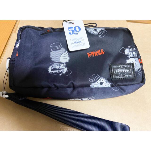 PORTER(ポーター)の完売品 新品PORTER × ドラえもん 限定ポーチ カラビナ無し メンズのバッグ(その他)の商品写真