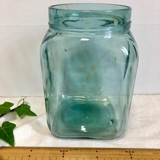 角型 ガラス瓶 海苔瓶  駄菓子屋瓶 蓋なし 昭和レトロ(ガラス)