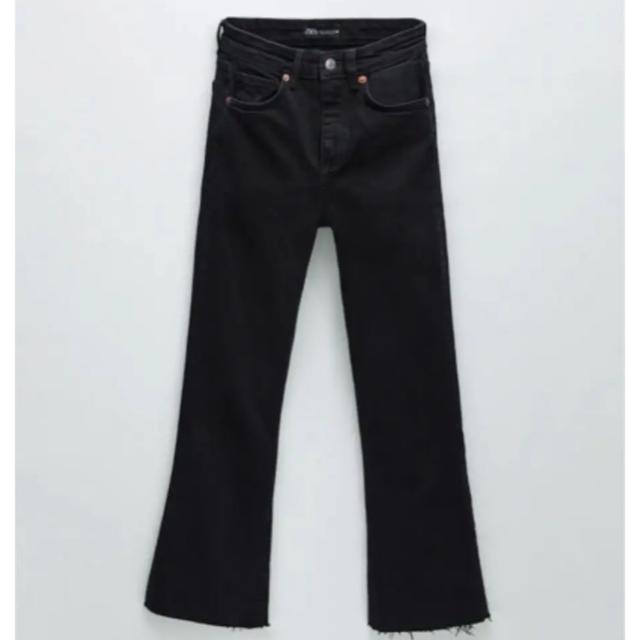ZARA(ザラ)の最終値下げZARA フレアパンツ ブラック 32 レディースのパンツ(デニム/ジーンズ)の商品写真