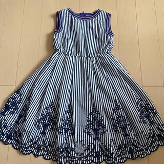 アナスイミニ(ANNA SUI mini)の【ご確認用】ANNA SUImini 130【極美品】♡刺繍♡(ワンピース)