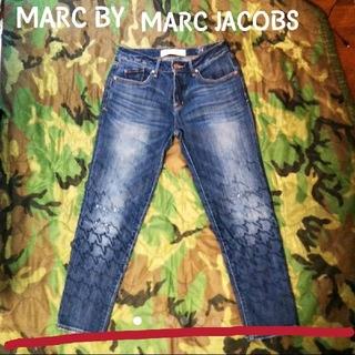 マークバイマークジェイコブス(MARC BY MARC JACOBS)のMARC BY MARC JACOBS ダメージ刺繍 加工 ボーイフレンドデニム(デニム/ジーンズ)