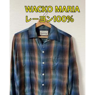 WACKO MARIA - WACKO MARIA レーヨン100% チェックシャツ
