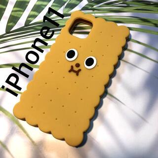 アップル(Apple)の残り1つ!iPhone11ケース★クッキー 顔つき かわいいシリコンケース(iPhoneケース)