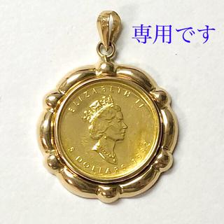 純金 コイン メイプルリーフ金貨 1/10ozペンダントトップ1992年 k18
