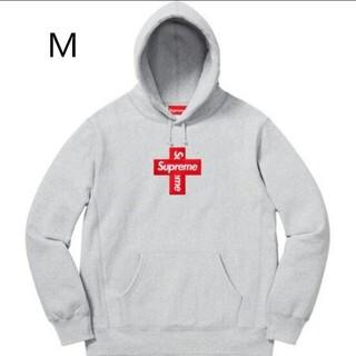 シュプリーム(Supreme)のCross Box Logo Hooded Sweatshirt シュプリーム (スウェット)