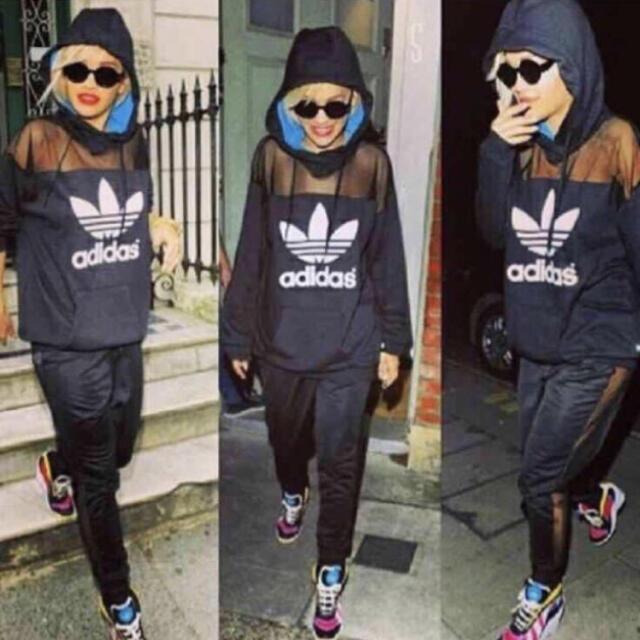 adidas(アディダス)の希少 adidas originals× Rita Ora メッシュ パーカー レディースのトップス(パーカー)の商品写真