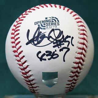 ローリングス(Rawlings)のレア!イチロー直筆サイン 2019年日本開幕戦公式ボール サインボール(記念品/関連グッズ)