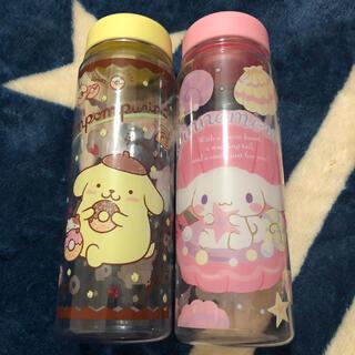 シナモロール(シナモロール)の新品★シナモンロール ポムポムプリン クリアーボトル 2つ(タンブラー)