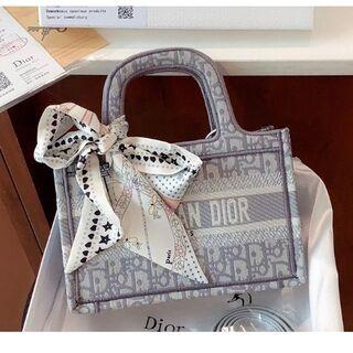 クリスチャンディオール(Christian Dior)のChristian Dior クリスチャン ディオール ブックバッグ グレー小(その他)