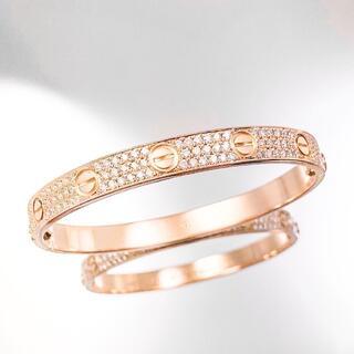 Cartier - 【保証書付】カルティエ ラブブレス PG ダイヤ 16 レディース ブレス