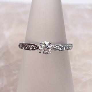 ティファニー(Tiffany & Co.)の★Tiffany&Co.★ ハーモニー ハーフサークル 婚約指輪 D0.24ct(リング(指輪))