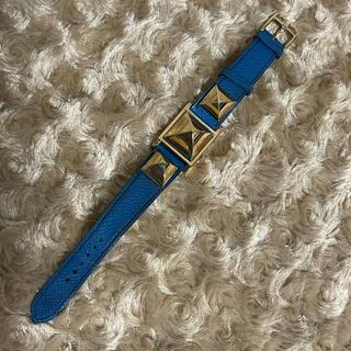 Hermes - レア❤️ ヴィンテージ エルメス メドール ウォッチ X刻印 ブルー