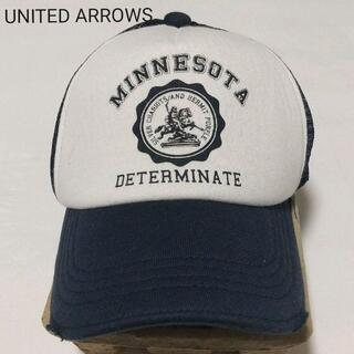 ユナイテッドアローズ(UNITED ARROWS)のUnited Arrows (ユナイテッドアローズ)キャップ(帽子)白 x 青 (キャップ)