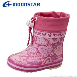 ムーンスター(MOONSTAR )のムーンスター 子供靴 ベビー長靴 ピンク moonstar 13cm(長靴/レインシューズ)