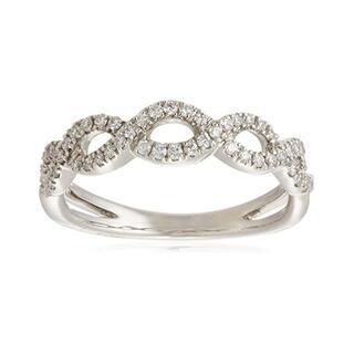 agete - BELLESIORA k18 WG ダイヤモンド リング ¥160,600