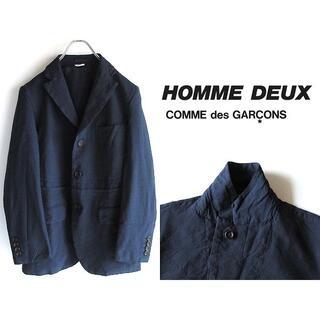 コムデギャルソン(COMME des GARCONS)の美品 コムデギャルソンオムドゥ 19SS ドビードット 再構築 ポリ縮ジャケット(テーラードジャケット)