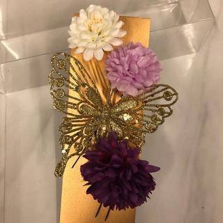 蝶々&お花の髪飾り(ヘアアクセサリー)