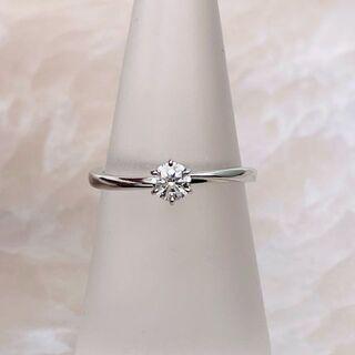 ニワカ(俄)の★俄★ 花雪 ダイヤリング 婚約指輪 D0.21ct(リング(指輪))