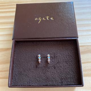 agete - アガット k18 オパール&淡水パールピアス