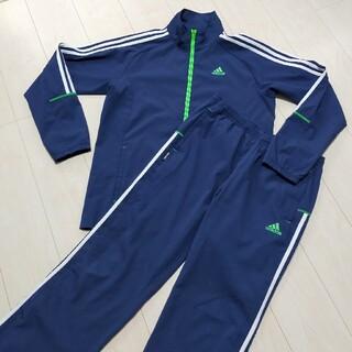 adidas - adidas アディダス ジャージ 青紺 セットアップ 上下 メンズ L ジャケ