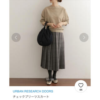 ドアーズ(DOORS / URBAN RESEARCH)のアーバンリサーチドアーズチェックプリーツスカート(ロングスカート)